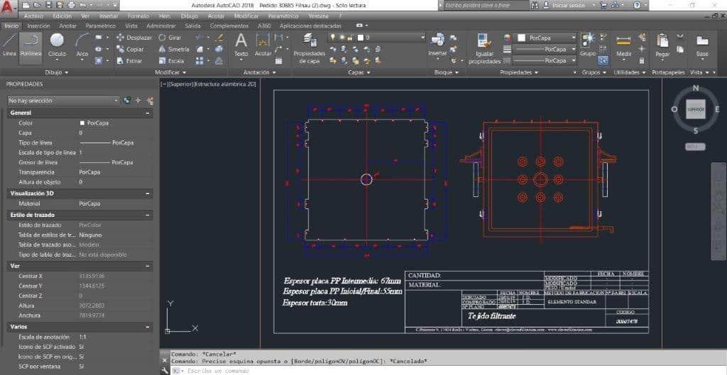 CAD - Telas Filtro Prensa